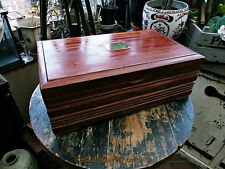 LARGE PINE DISPLAY/STORAGE BOX, PERFECT FOR MEDALS, COINS, JEWELLERY etc VINTAGE