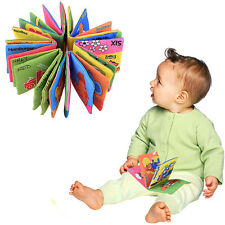 Early Toddler Intelligence Development Kids Soft Bab Cloth Fabric Cognize Book