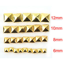 100Pcs - 6-12mm Square Pyramid Claw Rivet Studs - Shoes Bags Belts Leather Craft