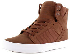 Men's Shoes Brown White Supra Skytop Sneakers Men Shoes S18252