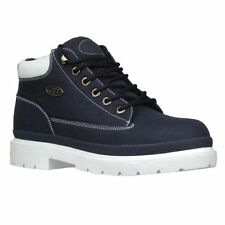 Lugz-Mens-DRIFTER-RIPSTOP-Navy-White-Textile-Ankle-Boo