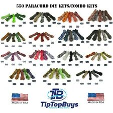 Paracord Hero 550lb Type III Paracord Combo DIY Crafting Kits w/ 5 Buckles