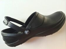 NEW Womens Crocs Mercy Work Slip-Resistant Tread Black Clogs Shoes 10876-060