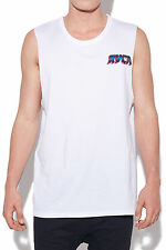 New RVCA Palms Muscle White Mens