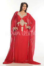 New Arabian Fancy Dubai Kaftan Maghribi Farasha Evening Long Maxi Dress 3416