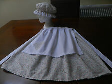Girls victorian style, prairie, goldilocks, mop cap, outfit costume, fancy dress