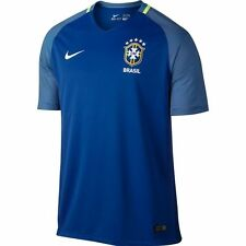 Nike Exclusive Men's 2016 Brazil National Soccer Team Away Jersey Blue Sz M & L