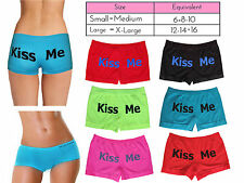 WOMEN BOXER SHORTS KNICKERS SEXY LADIES UNDERWEAR COMFY KISS ME GIRLS HOT PANTS