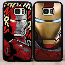 Marvel Comic Super Hero Iron Man Rubber Soft Cover Case for Samsung Galaxy S5