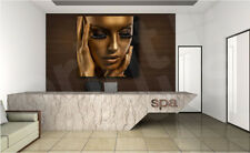 Golden Beauty Fashion SPA Modern Face Canvas Art Poster Print Wall Decor