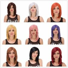 Womens Short Straight Bob Cosplay Full Wigs Lady Halloween Anime Hair Wigs