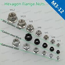 Hex Flange Serrated Nuts Hexagon Flange Nut Stainless steel Black DIN6923 M3-M12