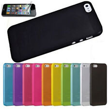 For iPhone 5 5S SE Hot Ultra Thin 0.3mm Silicone Matte Hard Case Back Cover Skin