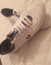 Women's Fred Perry White Plimsoll Trainers Size 8