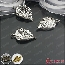 30PCS 24*13MM Leaves with ladybug Charms Pendants Findings Accessories 24381