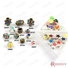 Alloy Oil Paintings Large hole Beads Jewelry Findings Accessories 29695