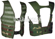 US MADE Military USGI MOLLE II Woodland Fight Load Carrier Vest FLC Field Gear