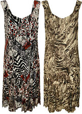 New Womens Plus Size Floral Animal Print Lace Lined Ladies Long Maxi Dress