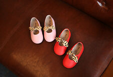NEW Baby Girls Infant Leather Ballet Flats Mary Jane Shoes Flats Shoes Velcro