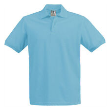 Boys Girls Light Blue Pique Polo Shirt School Uniform Short Sleeve Sizes 4 to 18