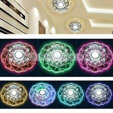Modern Chandelier Ceiling Pendant Light Crystal Glass Round Fixture Lighting