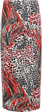 Plus Size Womens Animal Leopard Spot Print Long Stretch Ladies Maxi Skirt