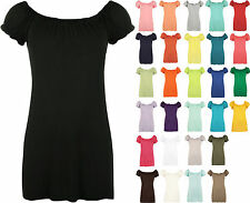 New Plus Size Womens Gypsy Boho Ladies Short Sleeve Stretch T-Shirt Top
