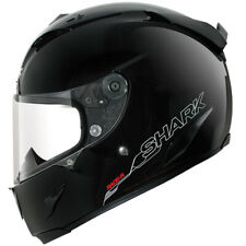 Shark Race R Pro Blank - Gloss Black Motorcycle Motorbike Helmet