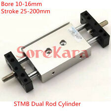 STMB Dual Rod Cylinder Bore 10-16mm Stroke 25-200mm Air Cylinder AIRTAC Type