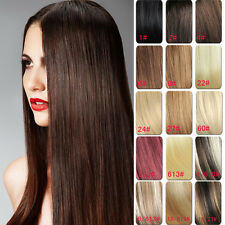 14''18''20''22''24''26'' Clip in Remy Extension 100% Human Hair Full Head 70120g