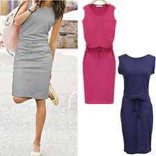 New Evening Party Cocktail Summer Short Sleeveless Women Fashion Casual Dress