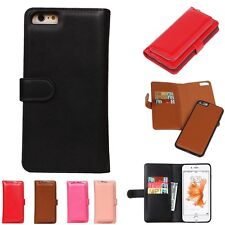 PU Leather Zipper Wallet Purse and Case 2in1 Magnetic Cover for iPhone Cellphone