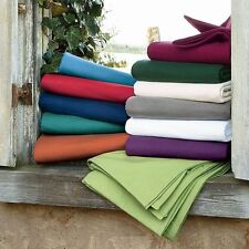 Twin-XL Size Bedding Collection 1000 TC 100%Egyptian Cotton All Solid Colors