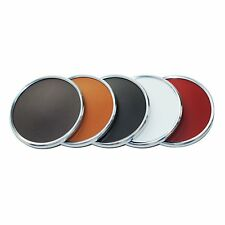 Roco Verre Real Leather Hide Retro Coasters BROWN, BLACK, WHISKEY, CHERRY RED