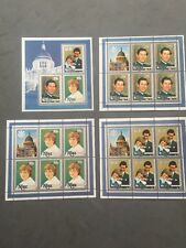 Niue 1981 Royal Wedding Set 3 Souvenir Sheets & Miniature Sheet MNH