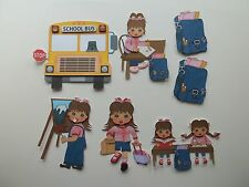 3D - U Pick - School Bus Easel Friends Girls Scrapbook Card Embellishment 276