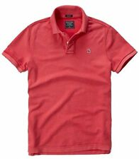 Nwt Abercrombie By Hollister Mens Muscle Fit Polo Shirt Size L XL Red