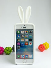 Cute Bunny Rabbit Tail Ear Silicone Soft Case Cover for iPhone 5 5S SE
