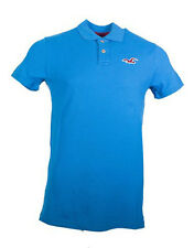 New Hollister By Abercrombie Mens Muscle Fit Short Sleeve Polo Shirt Turquoise
