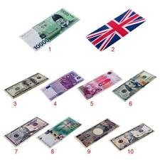 Womens Bi-Fold Creative PU Leather Paper Money Pouch Dollars Euros Wallet Purse
