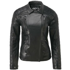 Knox Roberta Ladies Leather Motorcycle Motorbike Jacket - Black