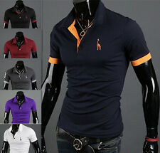Slim Fit T-shirt POLO Shirt Tops Tee Short Sleeve Fashion Casual Style Mens