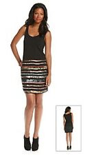 DKNY JEANS Black Dress w/ Sequin & Bead Embellishments - MSRP $108