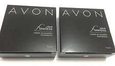2pc AVON Ideal Flawless Creme-to-Powder (Cream to Powder) Foundation- New in box
