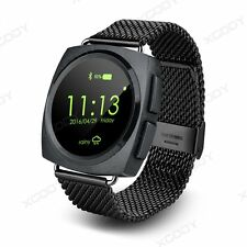Metal Leather Strap Bluetooth Men's Watch Smart Watch Phone Mate For Android IOS