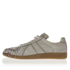 MARTIN MARGIELA MM22 Men grey Leather  Sneakers Shoes Made in Italy New