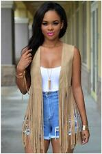 Fringe Waistcoat Faux Suede Tasseled Vest LC25708 Sleeveless womens top summer