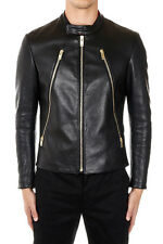 MARTIN MARGIELA MM14 Men Black Padded Leather Jacket Made in Italy