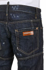 DSQUARED2 Dsquared² Men Jeans Denim in Cotton Destroyed Pants Made in Italy NWT