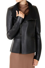 RICK OWENS New women Black Lamb Leather EILEEN JACKET made Italy
